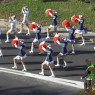 """Parade in the streets of Warsaw """"I love Ursynow Ilove the Nightingale Hill Project"""""""