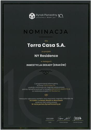 Nominacja donagrody zaNY Residence (Copy) (Copy)